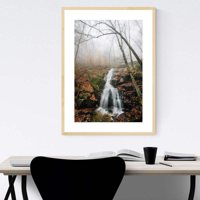 Crabtree Falls Virginia Autumn Framed Art Print