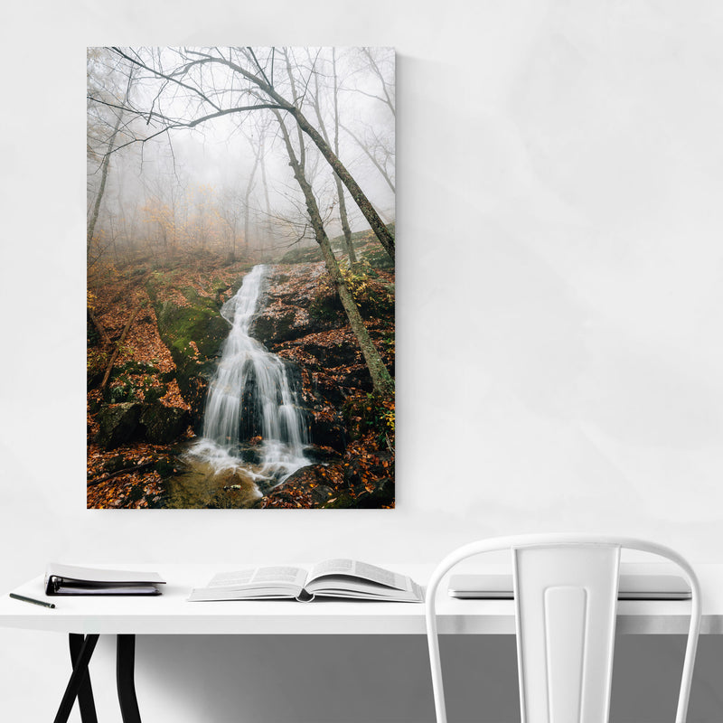 Crabtree Falls Virginia Autumn Metal Art Print