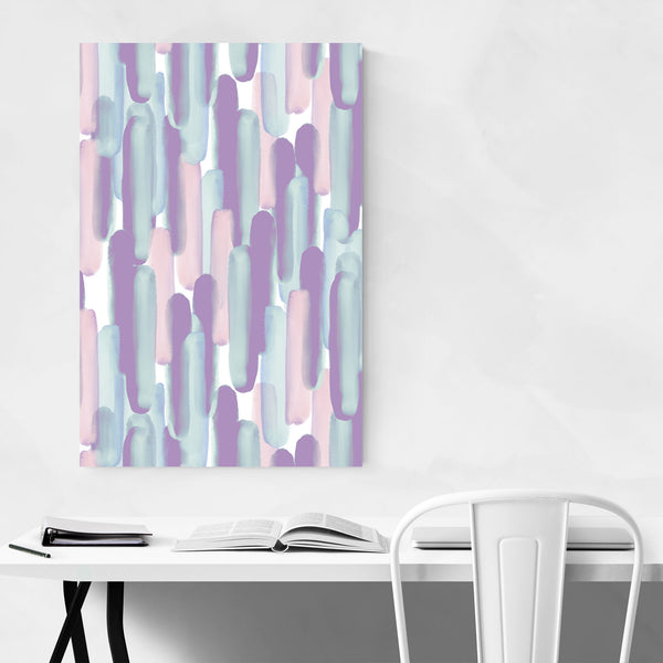 Abstract Pattern Pastel Brushes Art Print