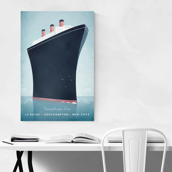 Minimal Boat Cruise Ship Art Print