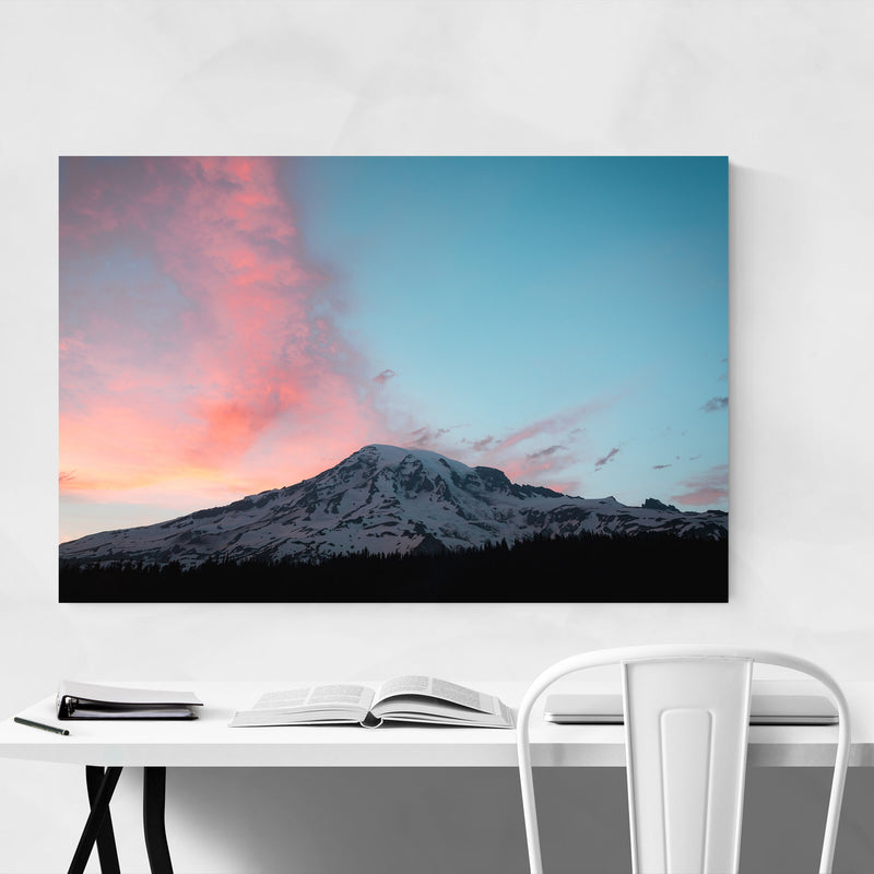 Mount Rainier Washington Nature Canvas Art Print