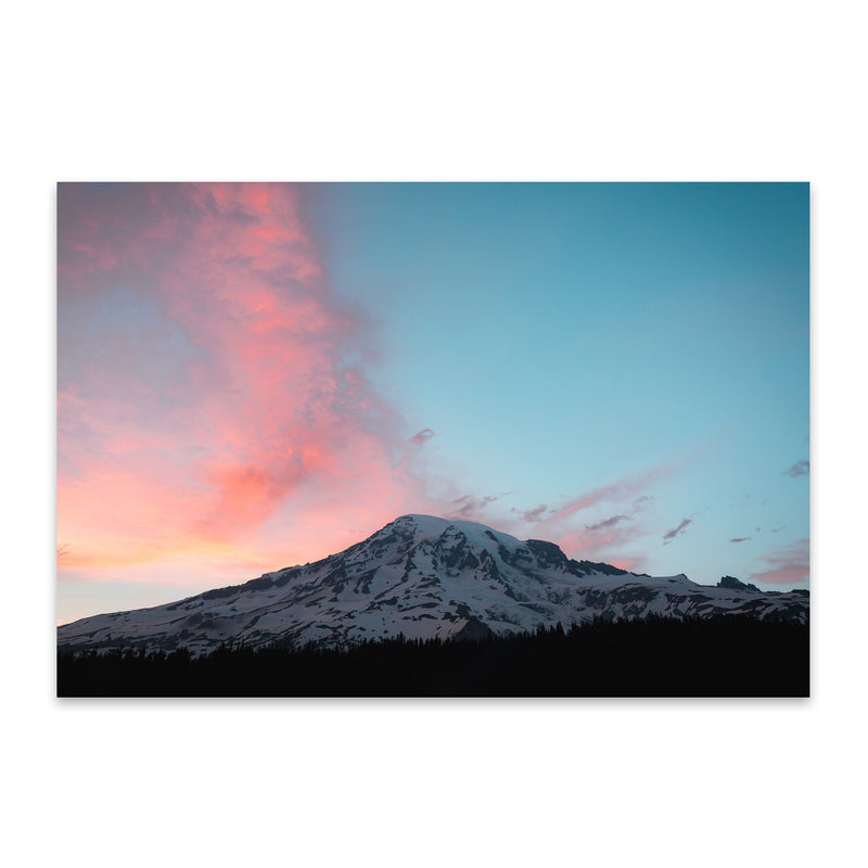 Mount Rainier Washington Nature Metal Art Print