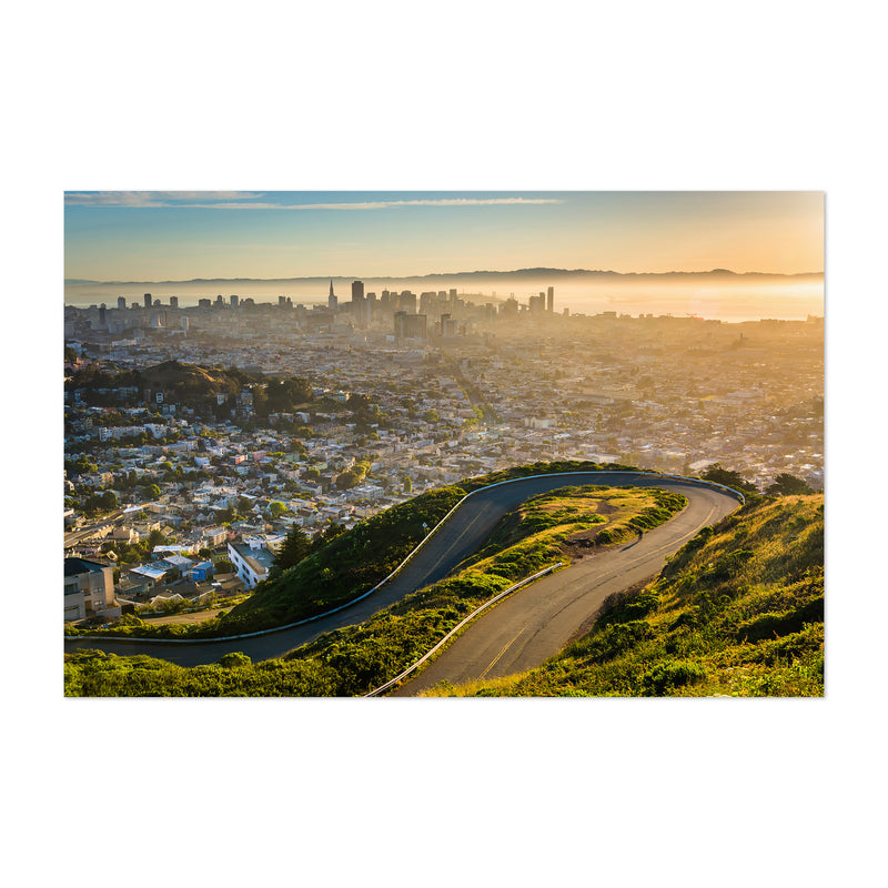 Twin Peaks San Francisco Skyline Art Print