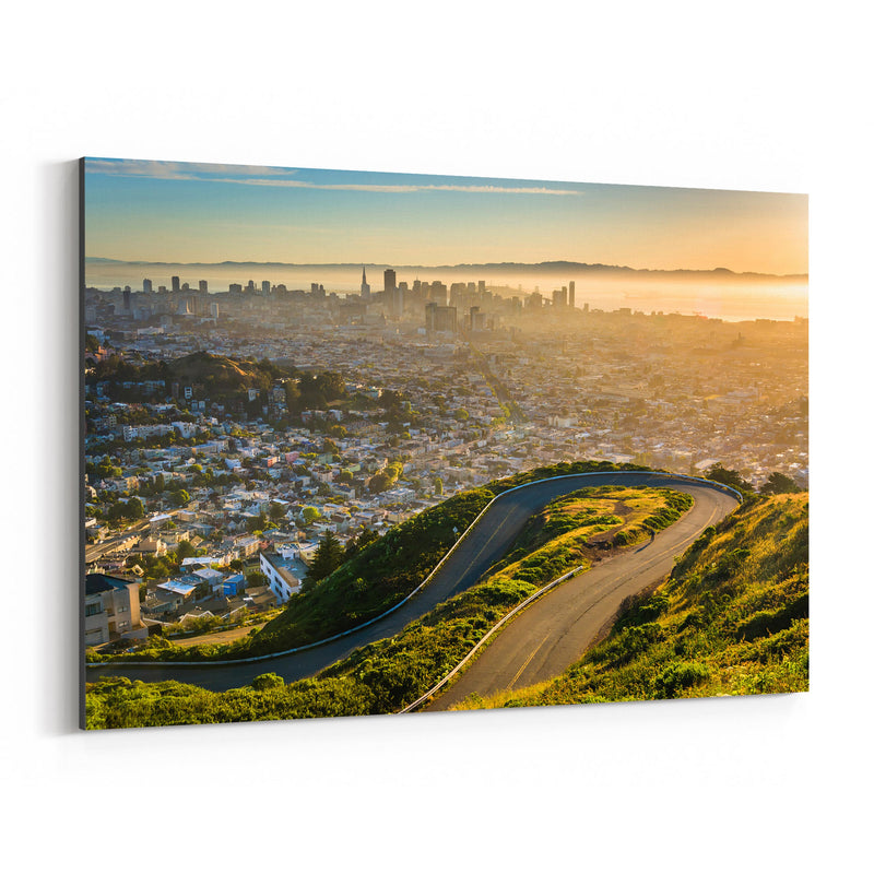 Twin Peaks San Francisco Skyline Canvas Art Print