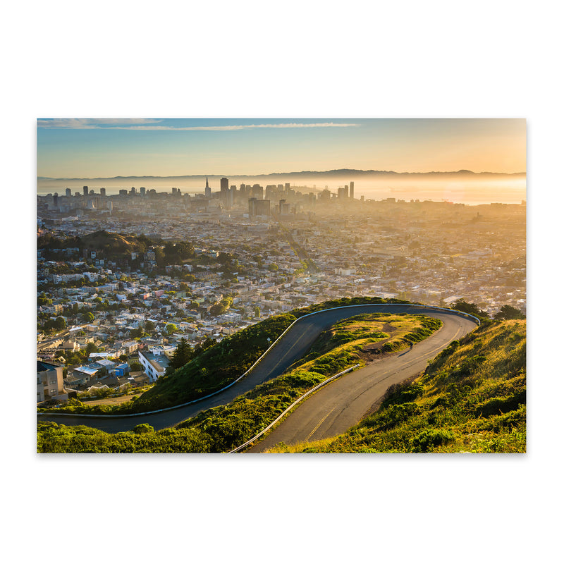 Twin Peaks San Francisco Skyline Metal Art Print