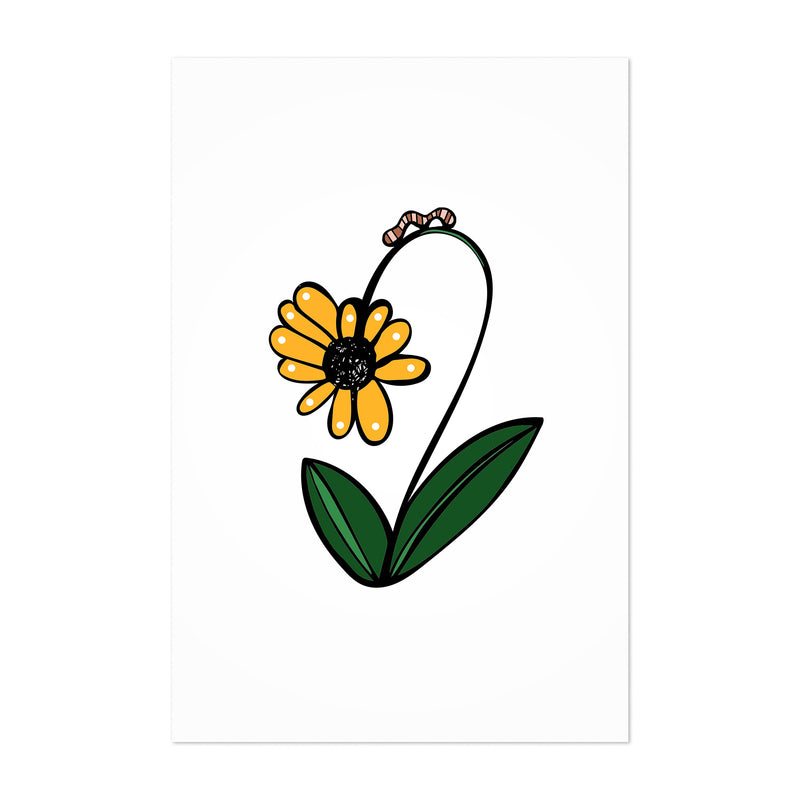 Floral Daisy Illustration Art Print