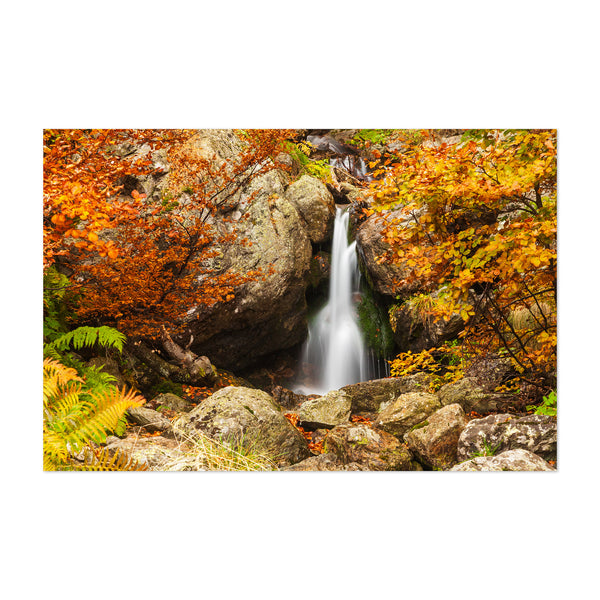 Bulgaria Waterfall Landscape Art Print