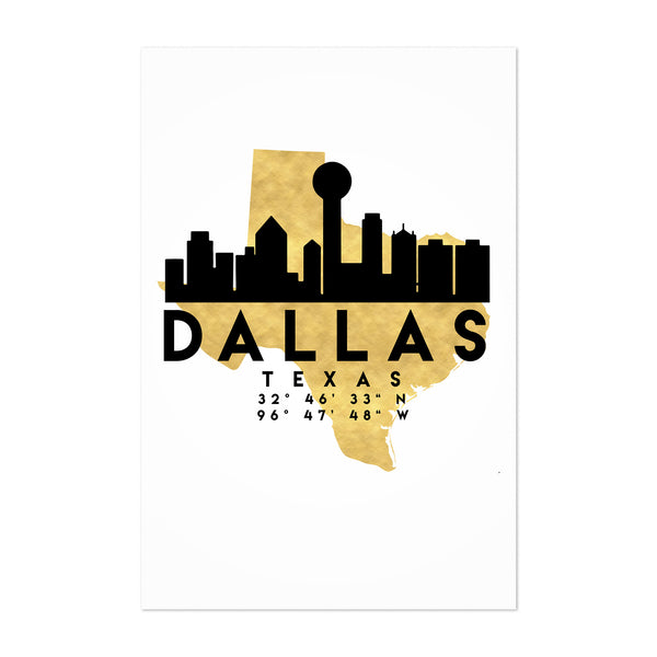 Minimal Dallas Skyline Art Print