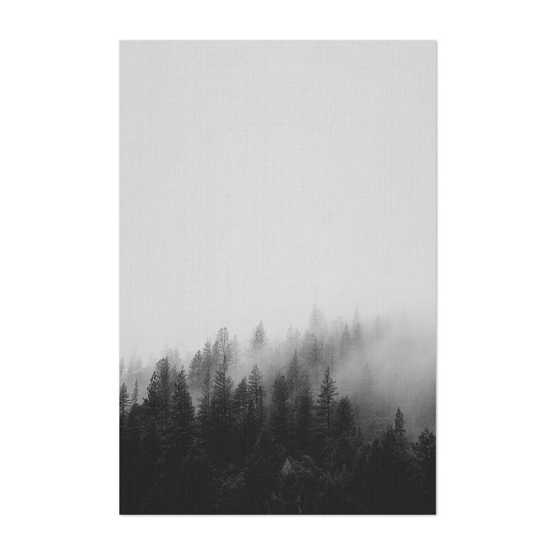Fog Pine Trees Forest Woods Art Print
