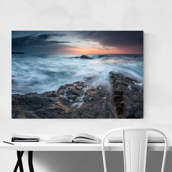 Rocky Coastal Sunrise Bulgaria  Art Print