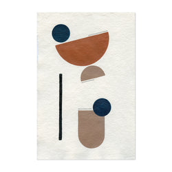 Abstract Minimal Shapes Desert Art Print