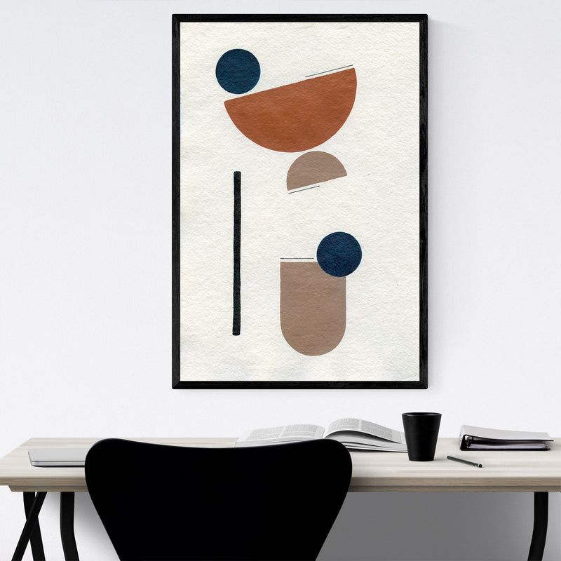 Abstract Minimal Shapes Desert Framed Art Print