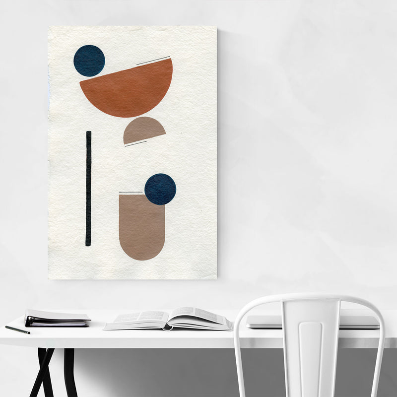 Abstract Minimal Shapes Desert Metal Art Print