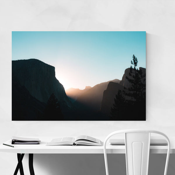 Tunnel View Yosemite Landscape Art Print
