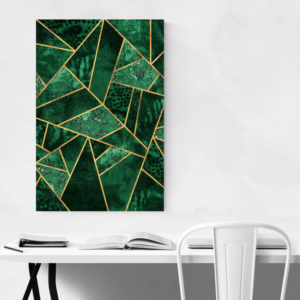Green Abstract Geometric Nature Art Print