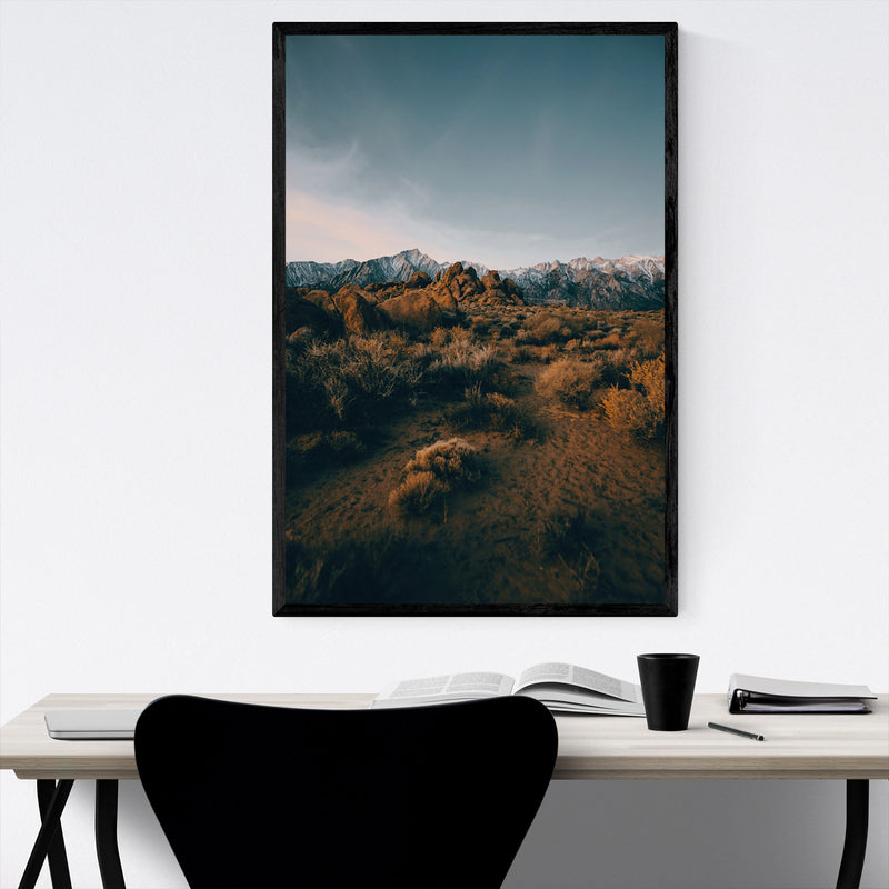Sierra Nevada Mountains Nature Framed Art Print