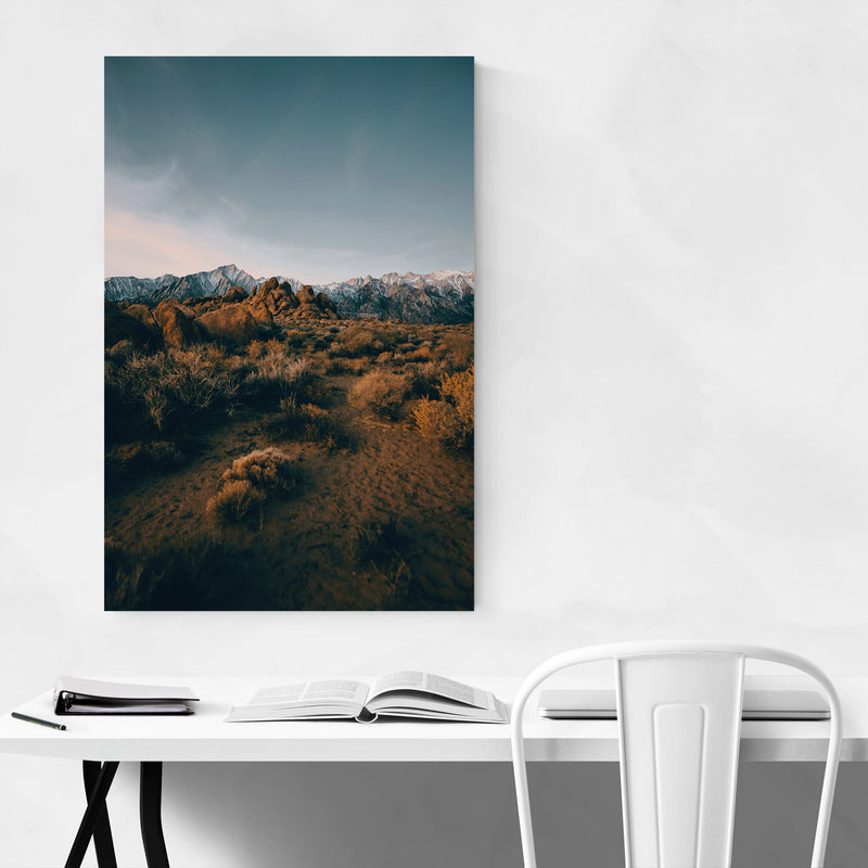 Sierra Nevada Mountains Nature Metal Art Print