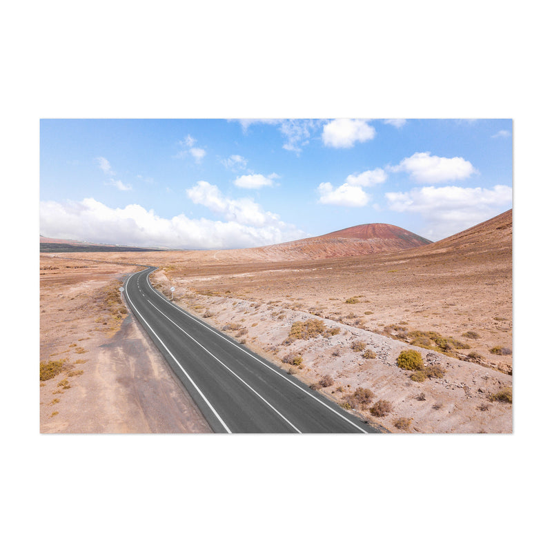 Lanzarote Canary Islands Road Art Print