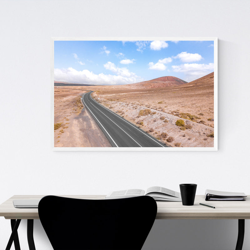 Lanzarote Canary Islands Road Framed Art Print