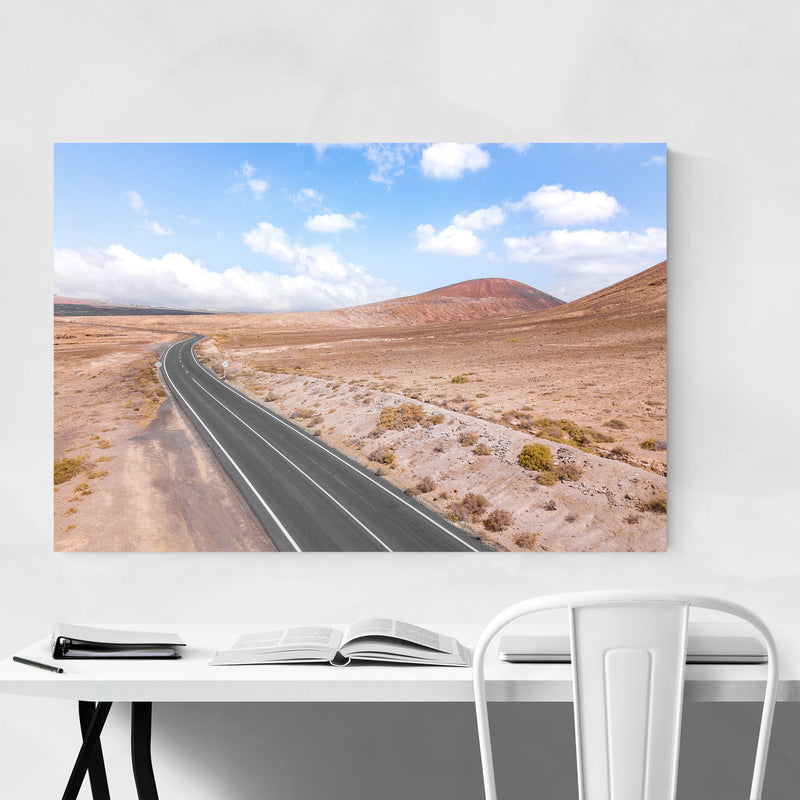 Lanzarote Canary Islands Road Canvas Art Print