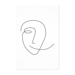 Scandinavian Smile Line Drawing Art Print