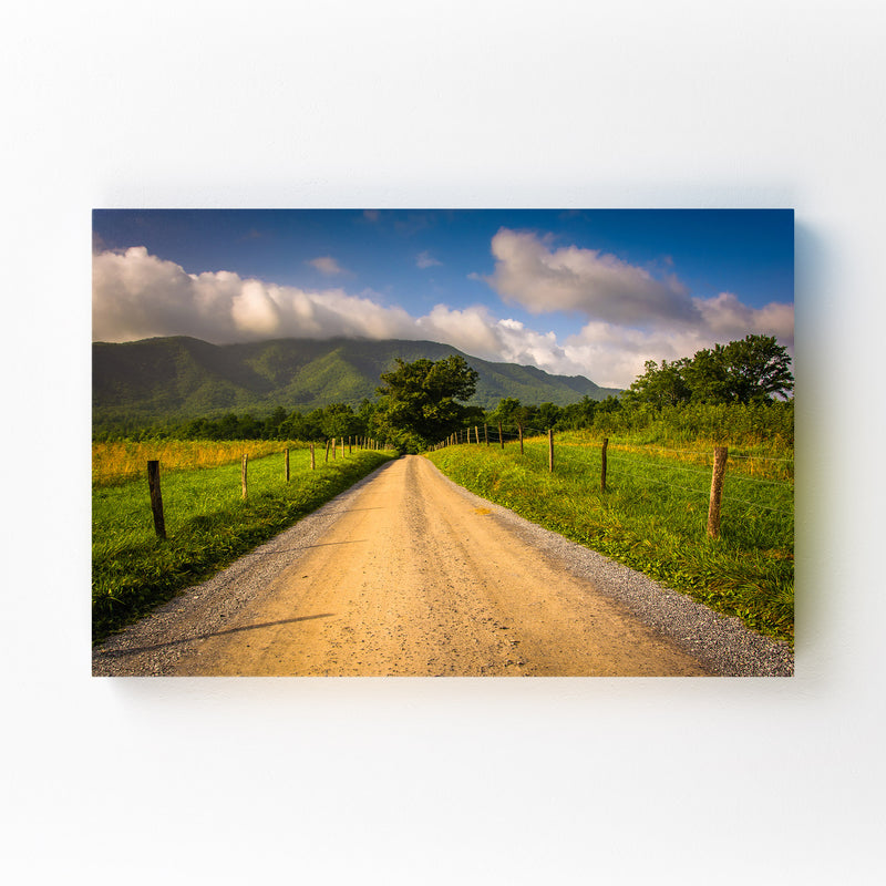 Great Smoky Mountains Cades Cove Mounted Art Print