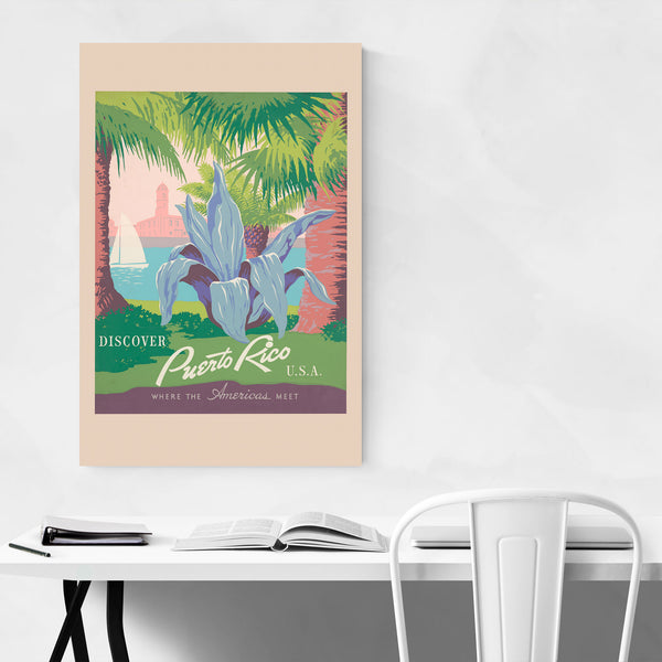 Puerto Rico Retro Travel Poster Art Print