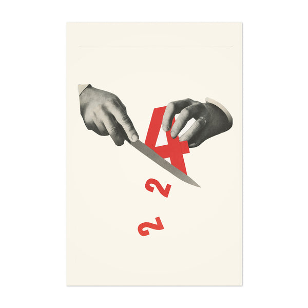 Abstract Numbers Hands Division Art Print