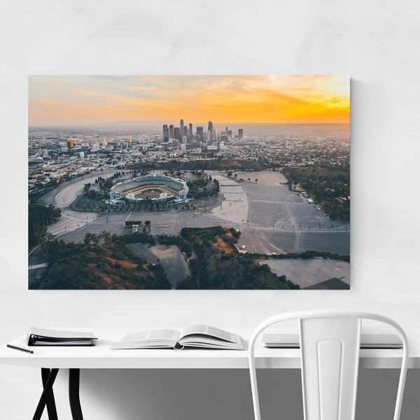 Dodgers Stadium Los Angeles View Art Print