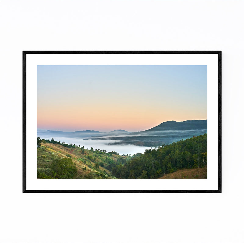 Chiang Mai Thailand Mountains Framed Art Print