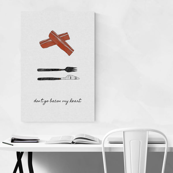 Cute Bacon Kitchen Typography Art Print