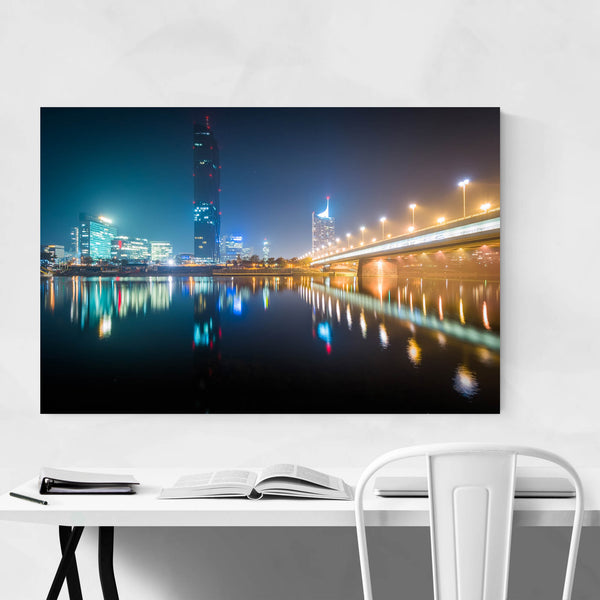 Vienna Donau City & Danube River Art Print