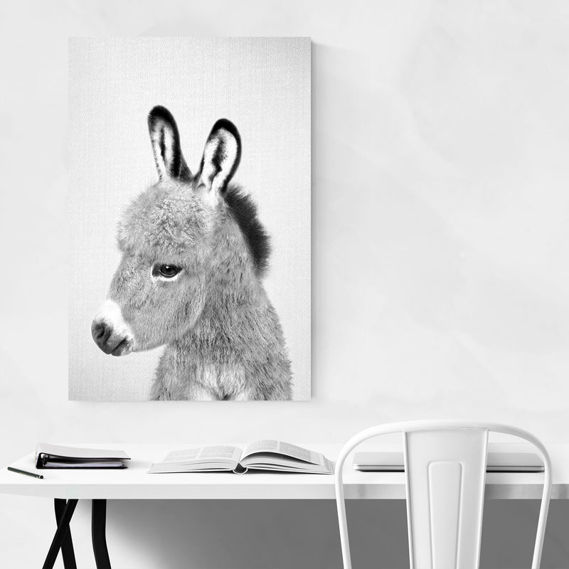 Donkey Peekaboo Nursery Animal Art Print