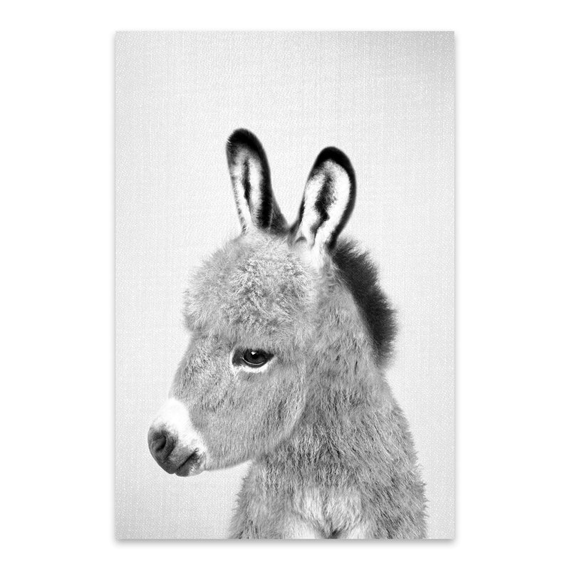 Donkey Peekaboo Nursery Animal Metal Art Print