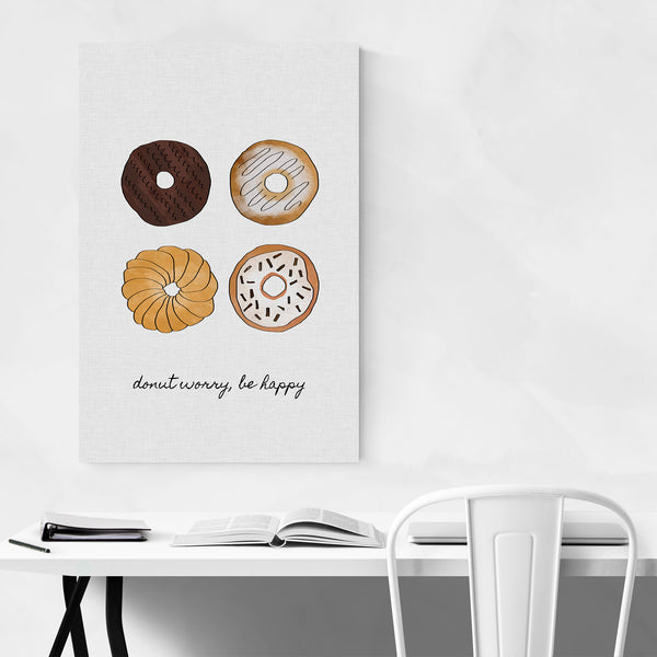 Cute Donut Kitchen Typography Art Print