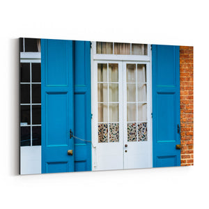 New Orleans French Quarter Door Canvas Art Print