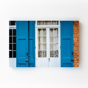 New Orleans French Quarter Door Mounted Art Print
