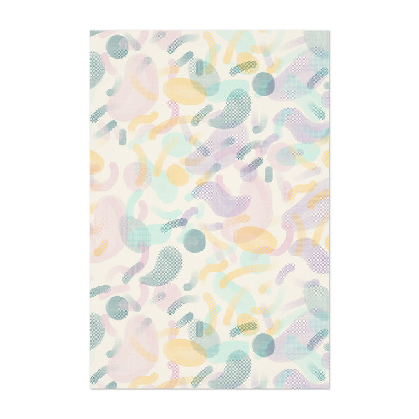 Abstract Pattern Pastel Shapes Art Print