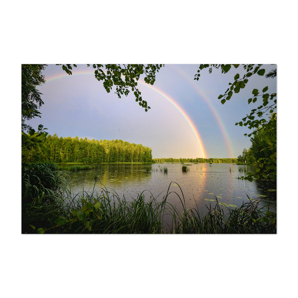 Rainbow Lake Nature Finland Art Print