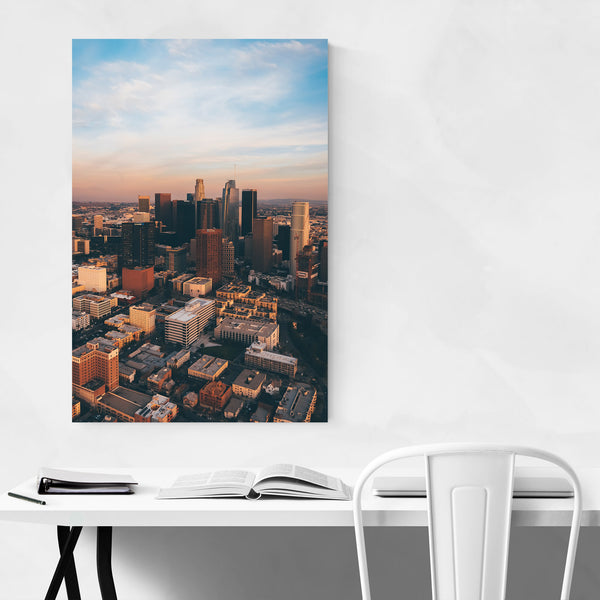 Los Angeles CA Skyline Cityscape Art Print