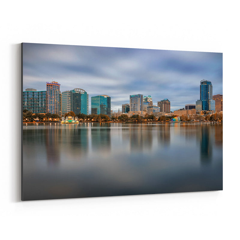 Orlando Florida City Skyline Canvas Art Print