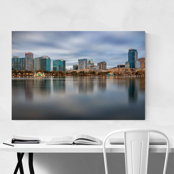 Orlando Florida City Skyline Art Print