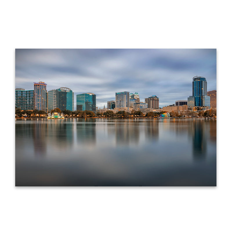 Orlando Florida City Skyline Metal Art Print
