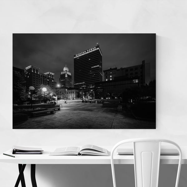 Black & White Winston-Salem NC Art Print