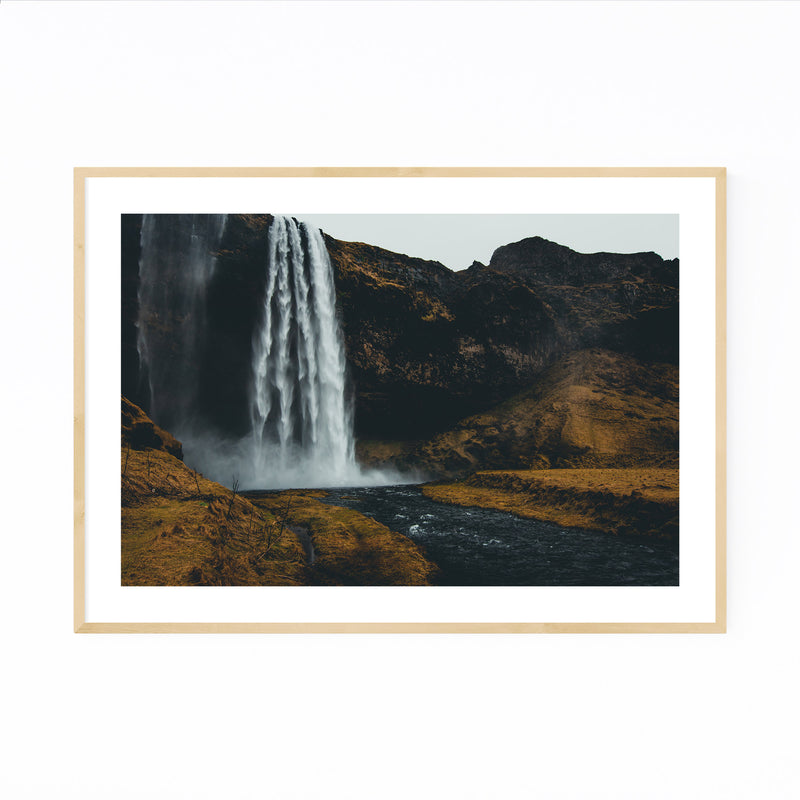 Seljalandsfoss Waterfall Iceland Framed Art Print