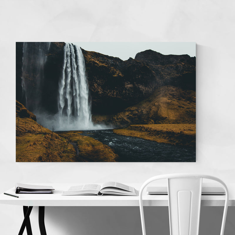 Seljalandsfoss Waterfall Iceland Canvas Art Print