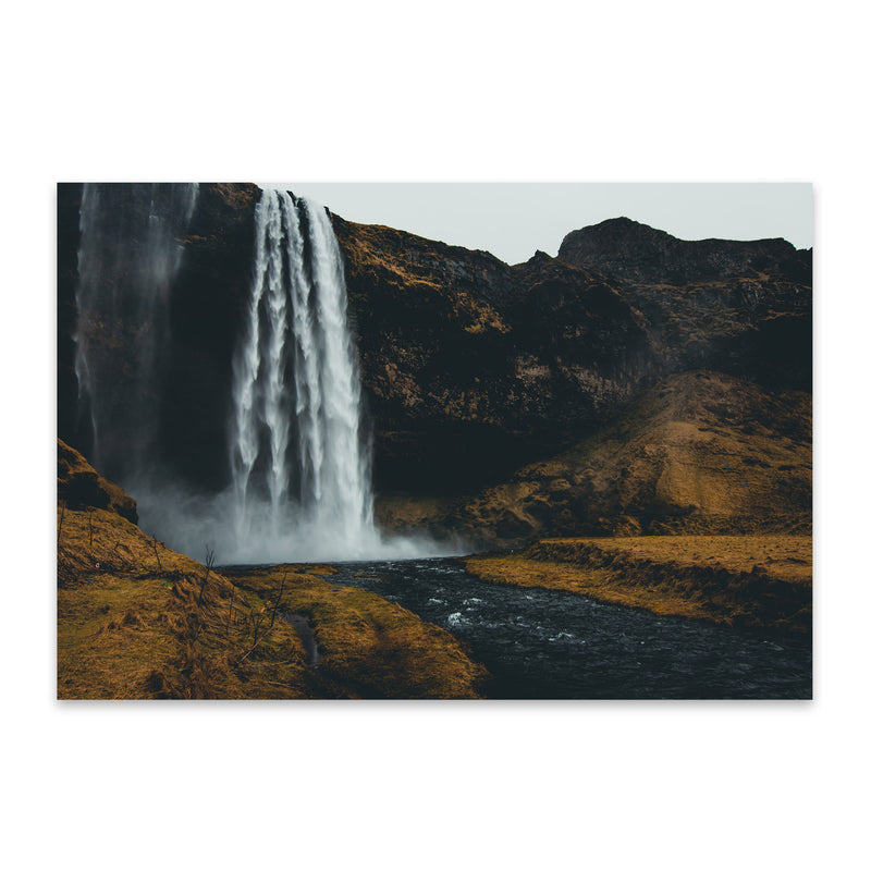 Seljalandsfoss Waterfall Iceland Metal Art Print