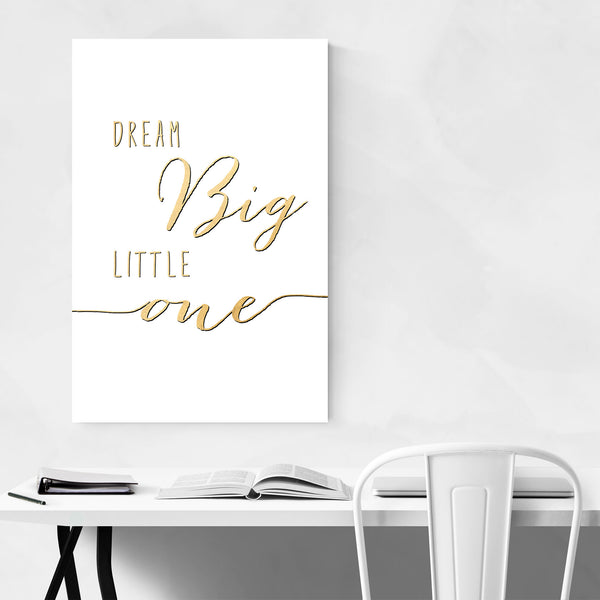 Nursery Inspirational Typography Art Print