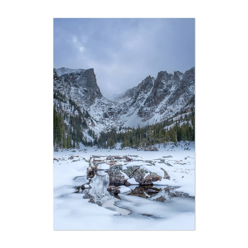 Rocky Mountains Colorado Winter Art Print