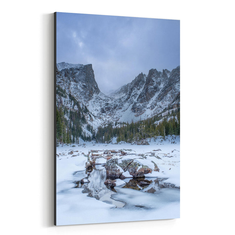 Rocky Mountains Colorado Winter Canvas Art Print